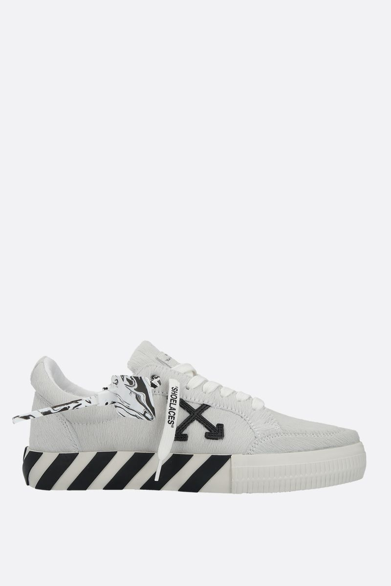 OFF WHITE: Low Vulcanized pony sneakers Color White_1