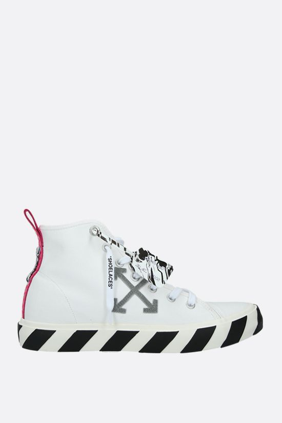 OFF WHITE: Vulcanized canvas high-top sneakers Color White_1