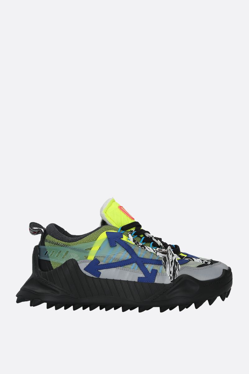 OFF WHITE: ODSY-1000 mesh and leather sneakers_1