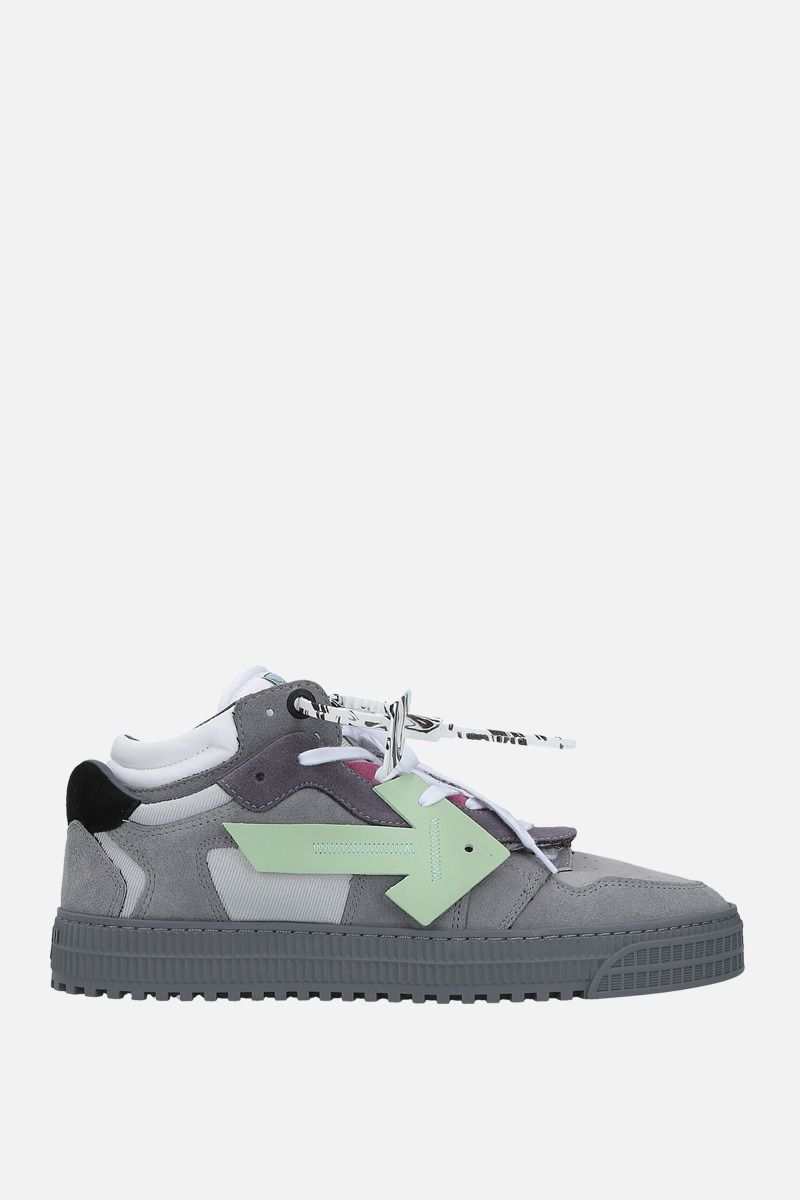 OFF WHITE: Off Court sneakers in a mix of materials Color Grey_1