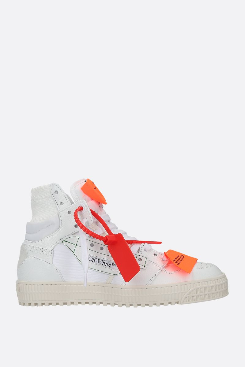 OFF WHITE: Off-Court 3.0 grainy leather sneakers Color White_1