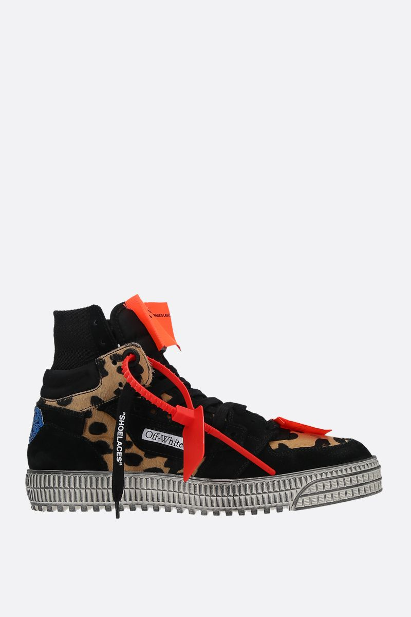 OFF WHITE: Off-Court 3.0 suede and pony sneakers_1
