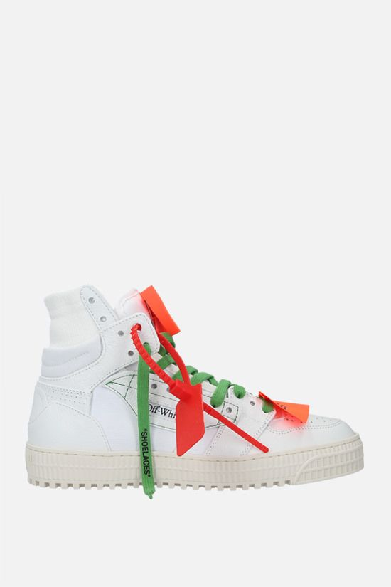OFF WHITE: Off-Court 3.0 grainy leather and canvas sneakers Color White_1