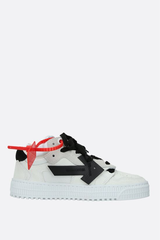 OFF WHITE: Off-Court 3.0 suede and mesh low-top sneakers Color White_1