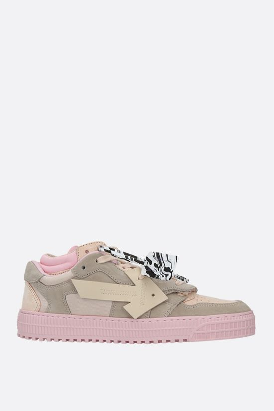 OFF WHITE: Off-Court 3.0 suede and mesh low-top sneakers Color Pink_1