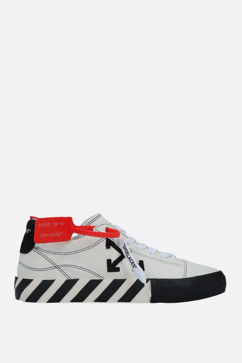 OFF WHITE: New Arrow Low Vulcanized suede sneakers Color White_1