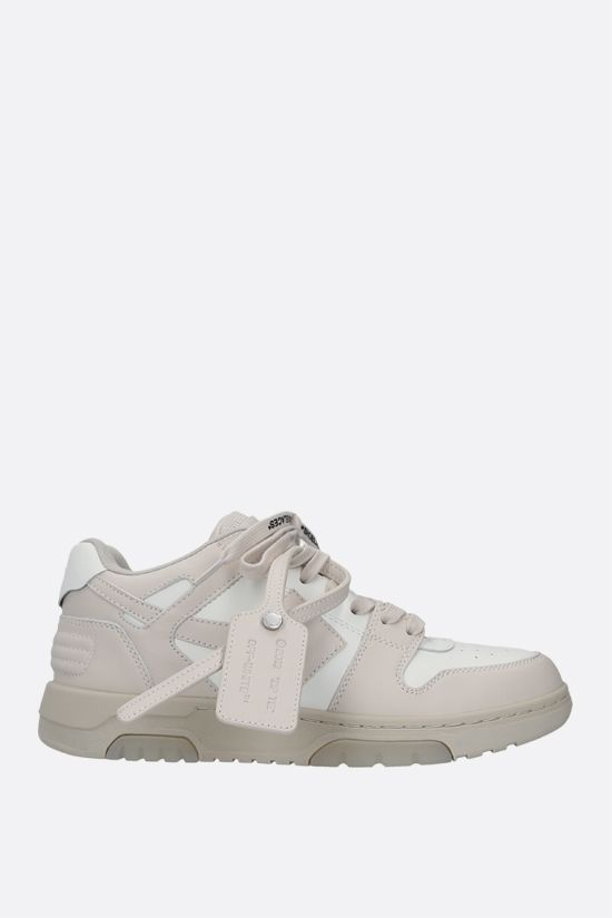 OFF WHITE: Out Of Office smooth leather sneakers Color White_1