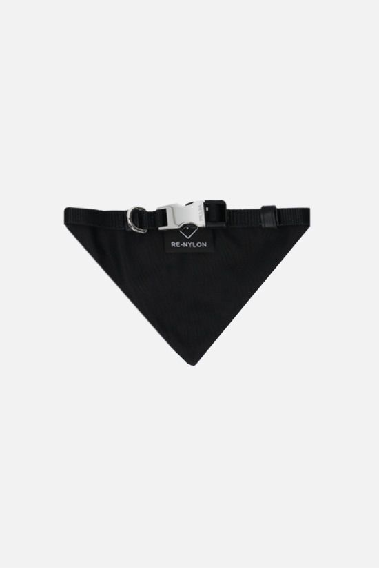 PRADA: logo-detailed Re-Nylon bandana pet collar Color Black_2