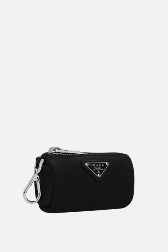 PRADA: logo-detailed Re-Nylon pet waste bag pouch Color Black_2