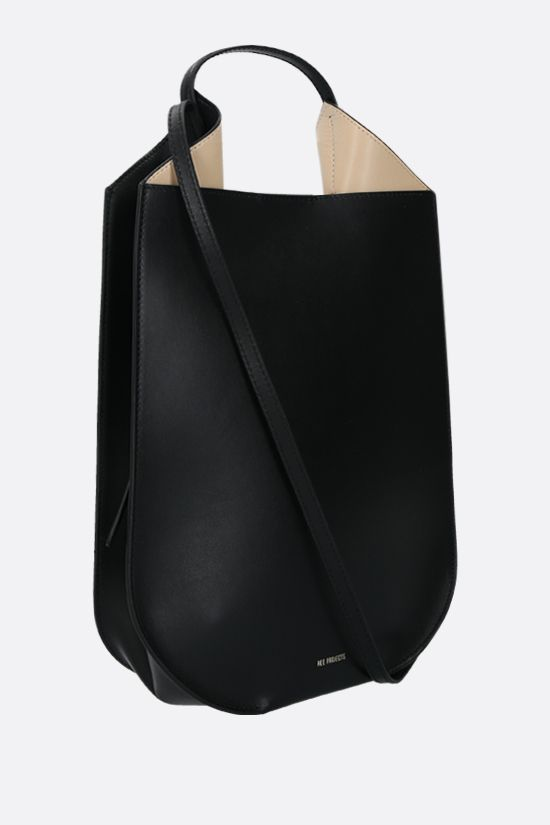 REE PROJECTS: borsa a mano Helene mini in pelle liscia Colore Nero_2