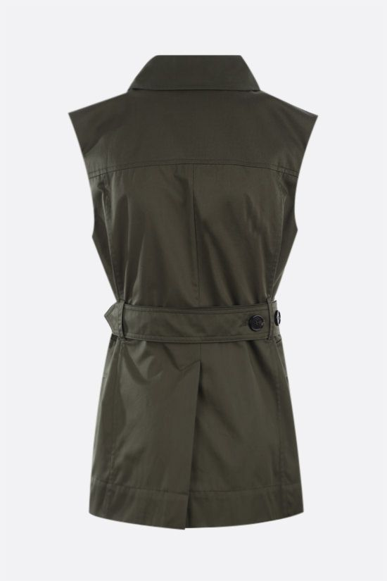 'S MAX MARA: Galvano cotton double-breasted vest Color Green_2
