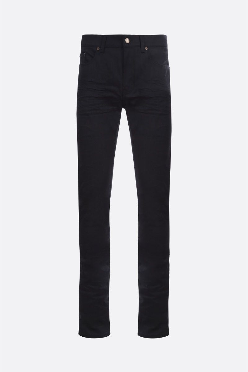 SAINT LAURENT: jeans skinny-fit Colore Nero_1