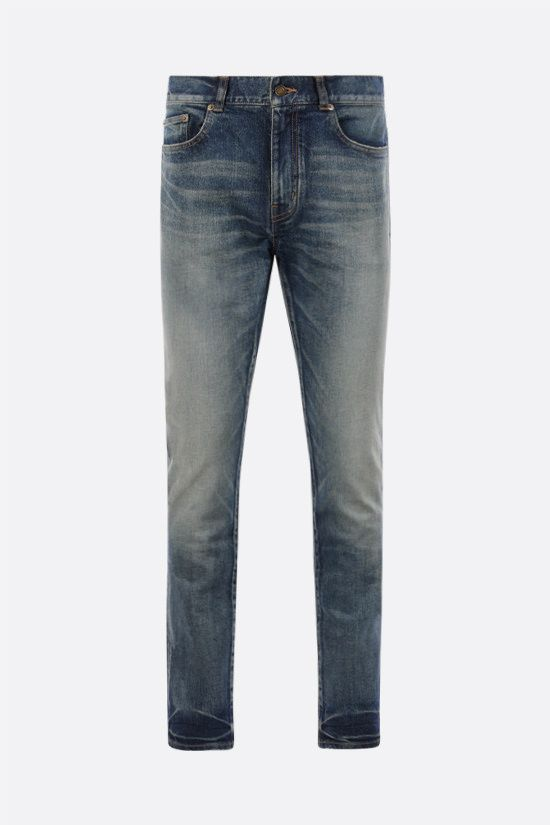 SAINT LAURENT: skinny-fit jeans Color Blue_1