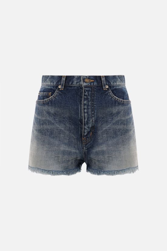 SAINT LAURENT: denim shorts Color Blue_1
