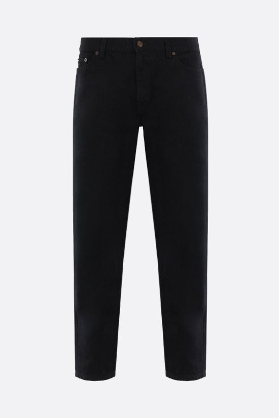 SAINT LAURENT: cropped baggy-fit jeans Color Black_1