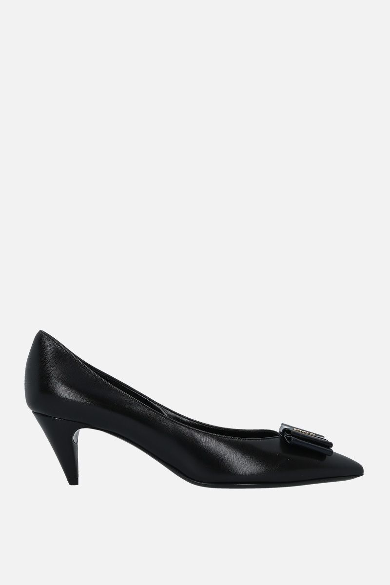 SAINT LAURENT: Anais smooth leather pumps Color Black_1