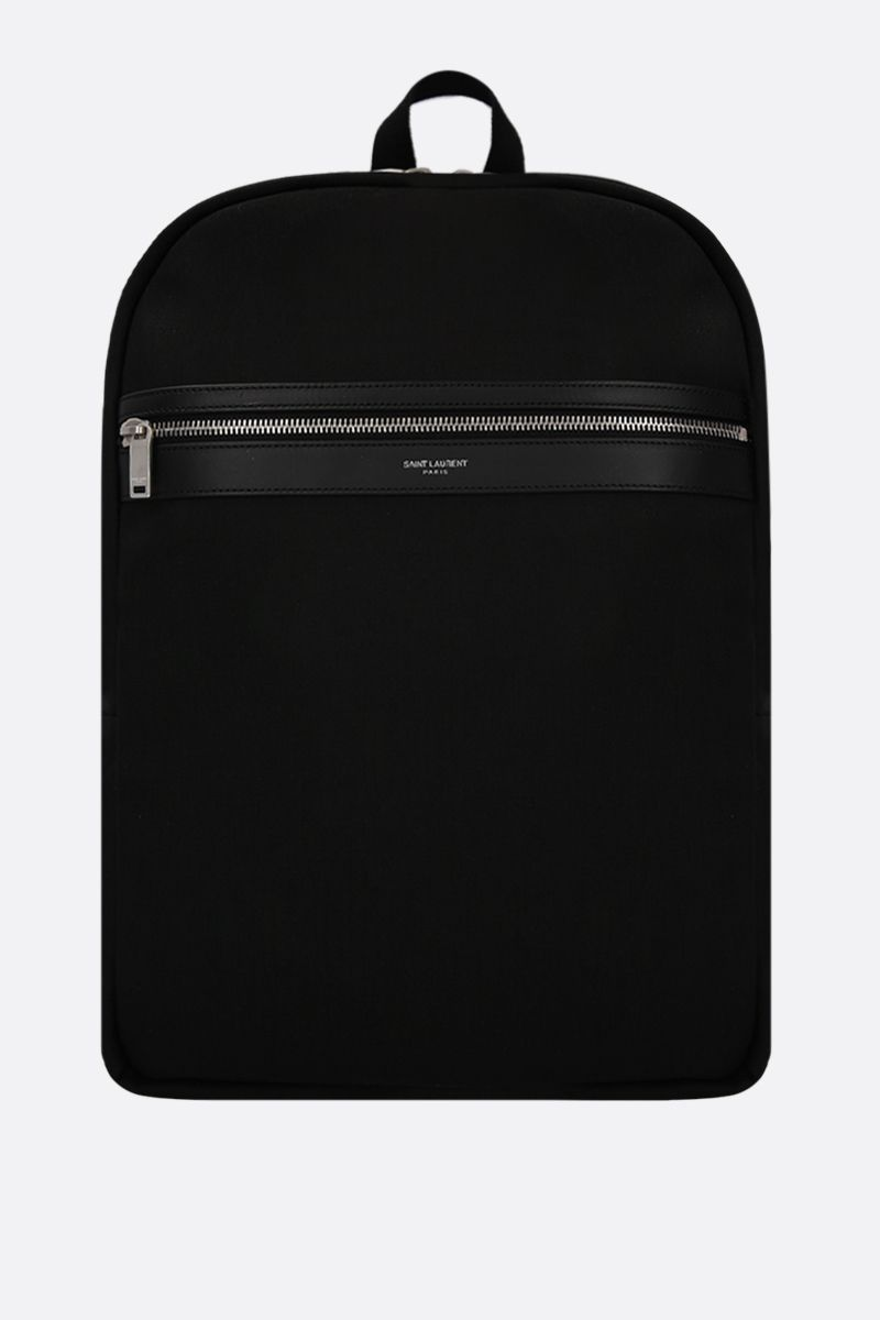 SAINT LAURENT: zaino Laptop City in canvas Colore Nero_1