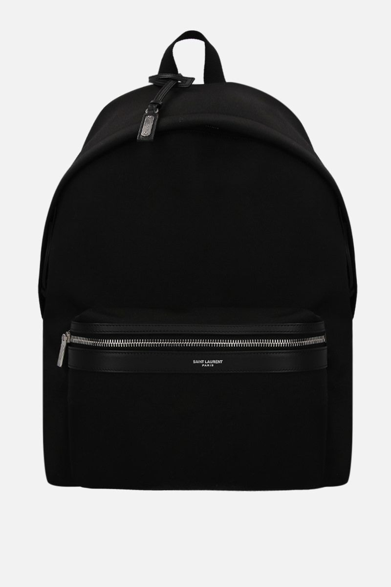 SAINT LAURENT: City canvas backpack Color Black_1