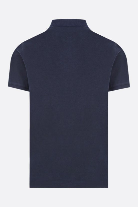 STONE ISLAND: logo patch cotton polo shirt Color Blue_2