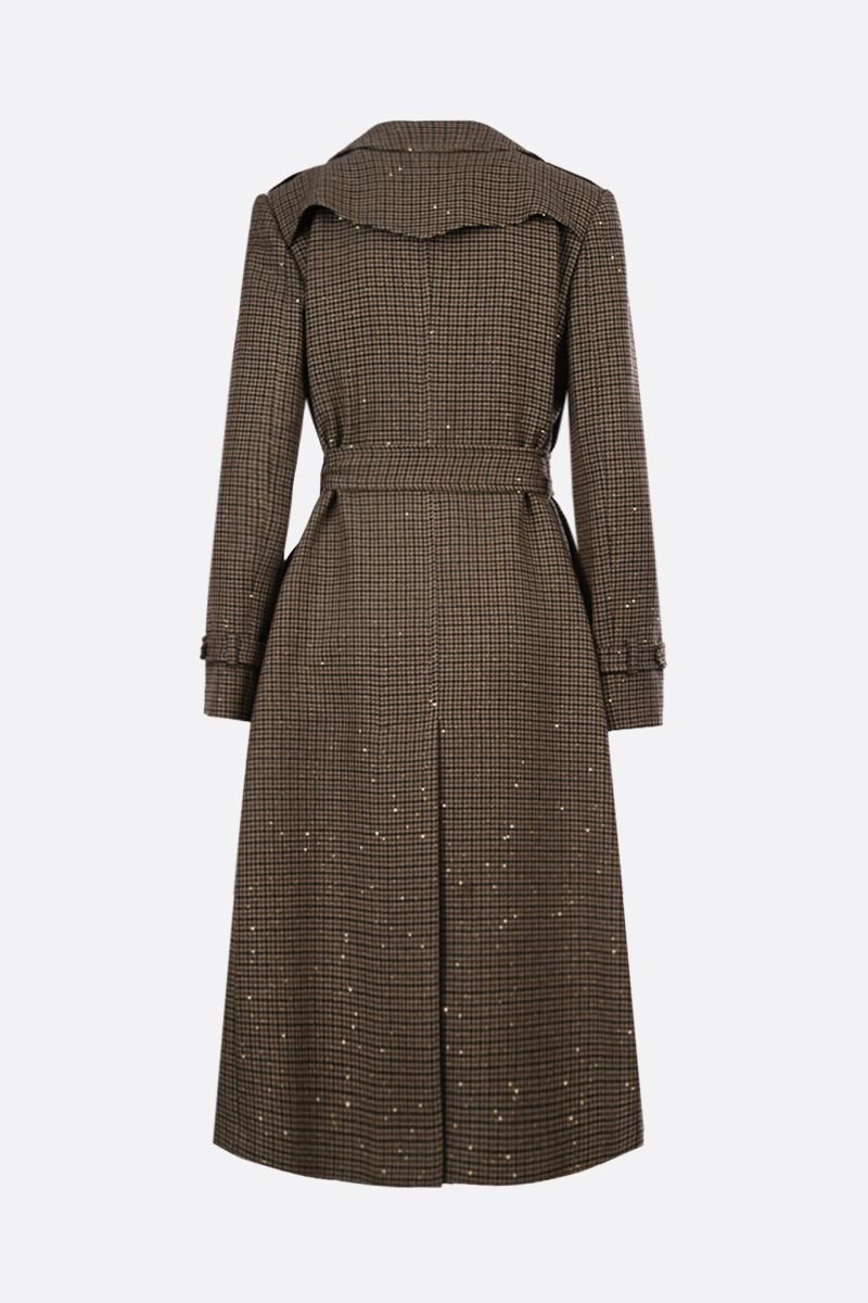 TAGLIATORE: Carola wool blend wrap coat Color Brown_2