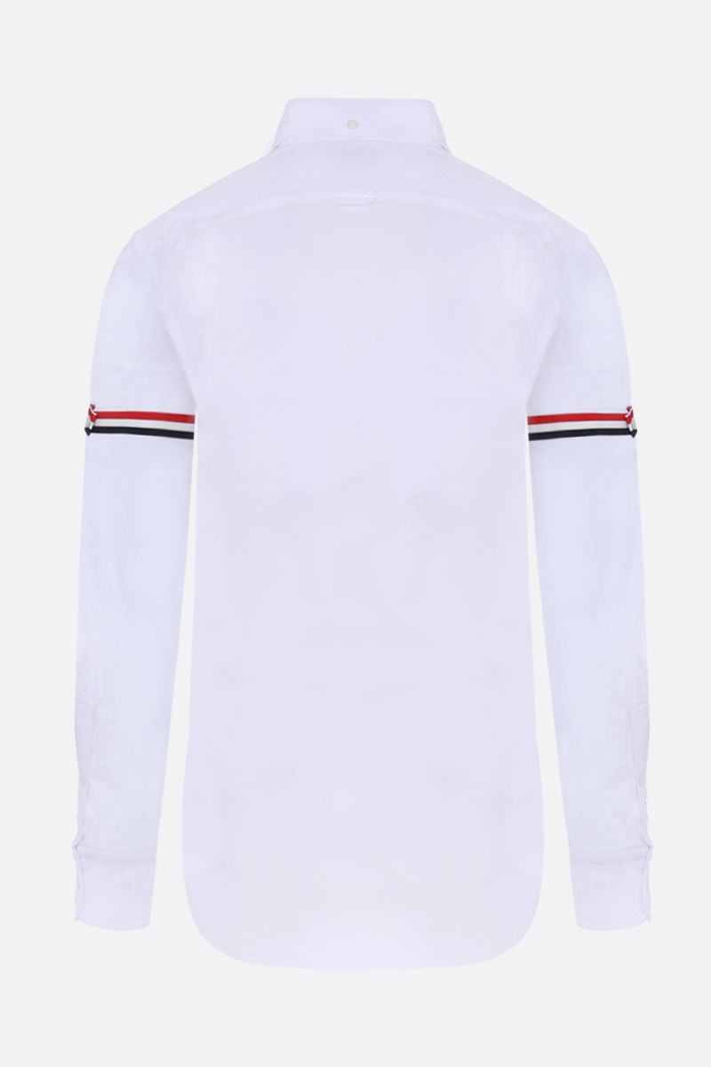 THOM BROWNE: slim-fit cotton oxford shirt Color White_2