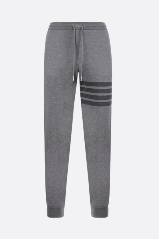 THOM BROWNE: 4-bar detailed sweatpants Color Grey_1