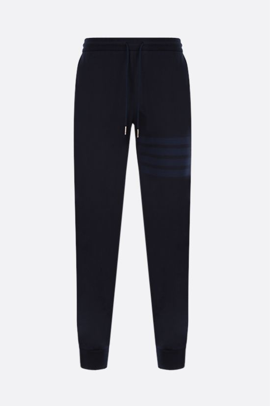 THOM BROWNE: 4-bar detailed sweatpants Color Blue_1
