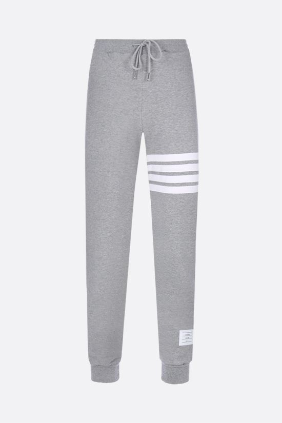 THOM BROWNE: 4-bar detailed jersey joggers Color Grey_1