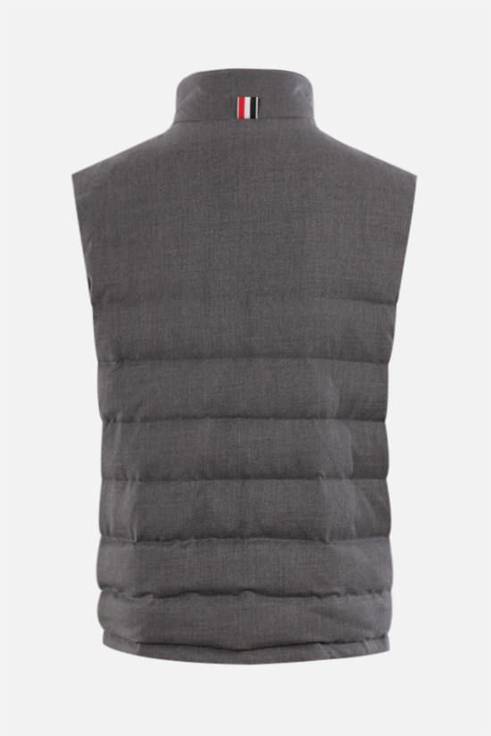 THOM BROWNE: wool sleeveless down jacket Color Grey_2
