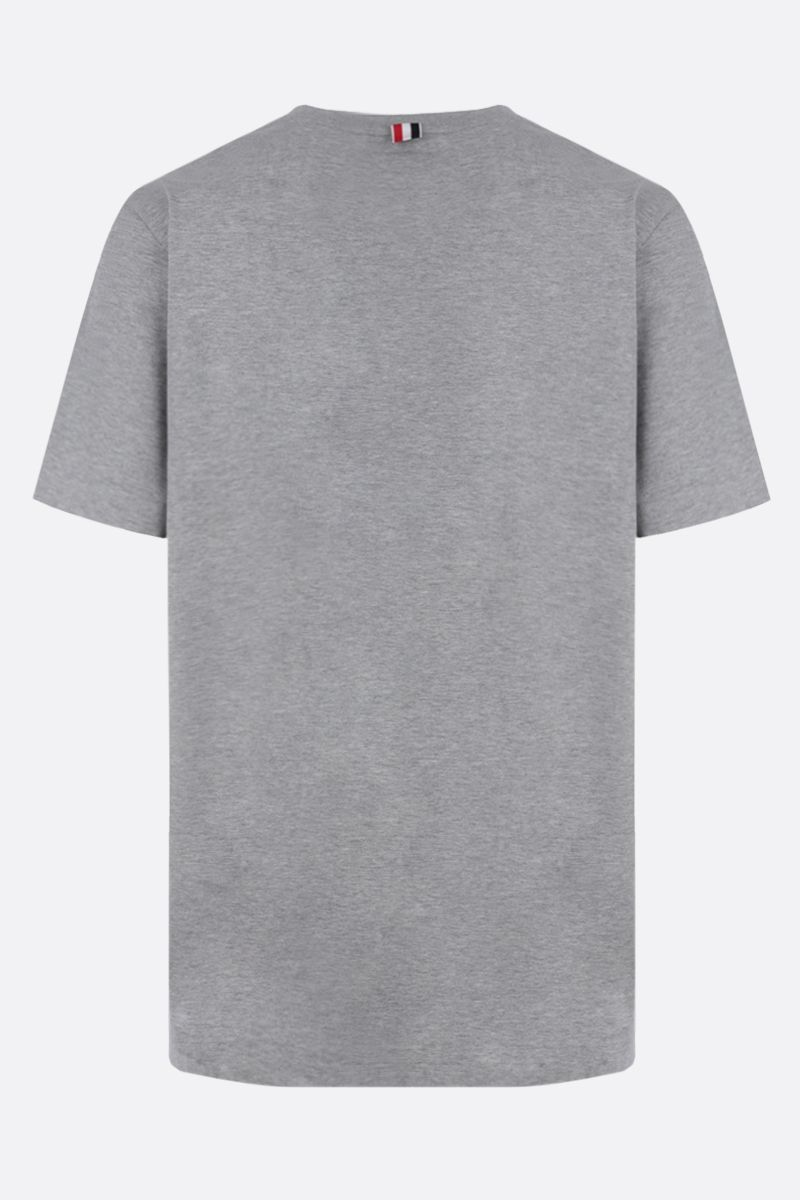 THOM BROWNE: slit-detailed cotton t-shirt Color Grey_2