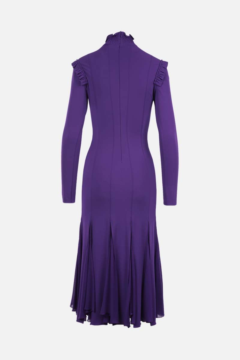 TOM FORD: viscose jersey midi dress Color Purple_2