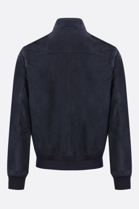 TOM FORD: velvet suede bomber jacket Color Blue_2