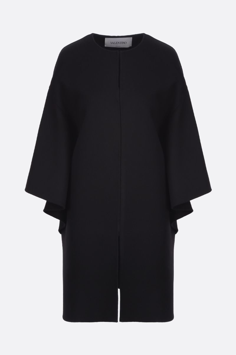 VALENTINO: wool cashmere blend cape Color Black_1