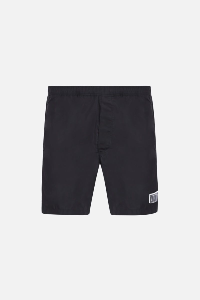VALENTINO: VLTN TAG nylon swim shorts Color Black_1