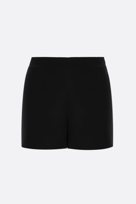 VALENTINO: silk wool blend shorts Color Black_1