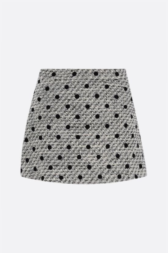 VALENTINO: Tweed Pois Floquè skort Color Neutral_1