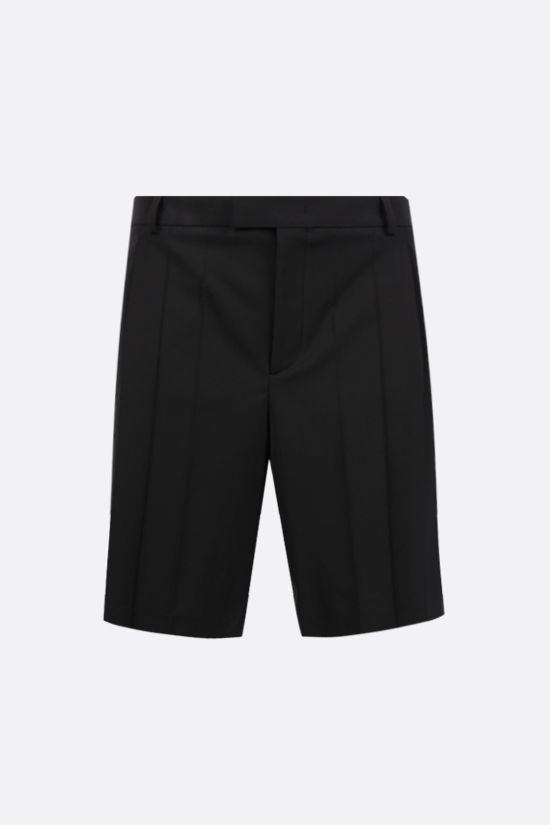 VALENTINO: pleated technical wool shorts Color Black_1