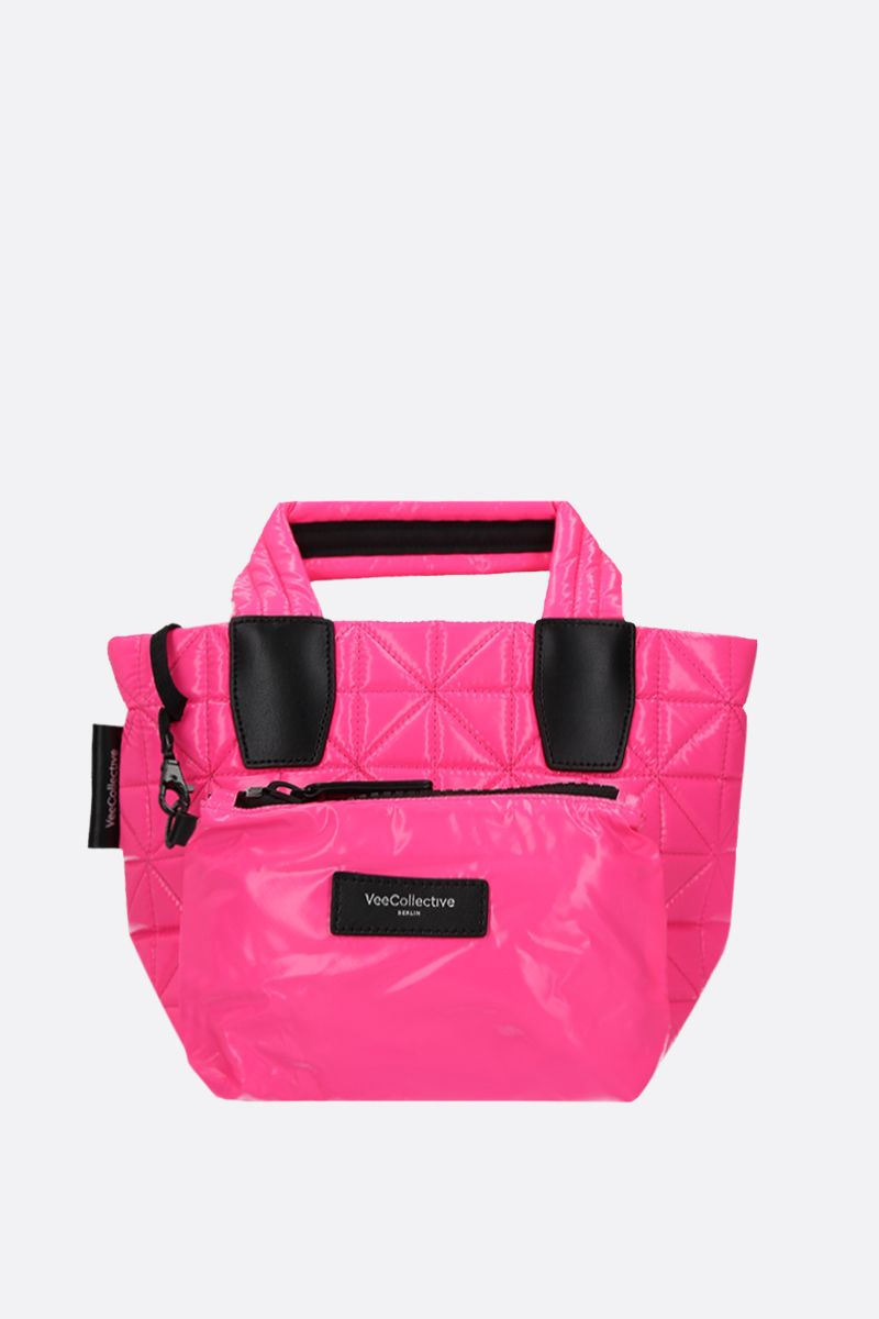 VEE COLLECTIVE: Vee mini ripstop coated nylon tote Color Pink_1