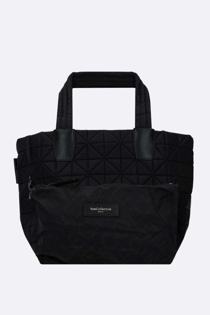 VEE COLLECTIVE: borsa tote Vee small in nylon Ripstop Colore Nero_1