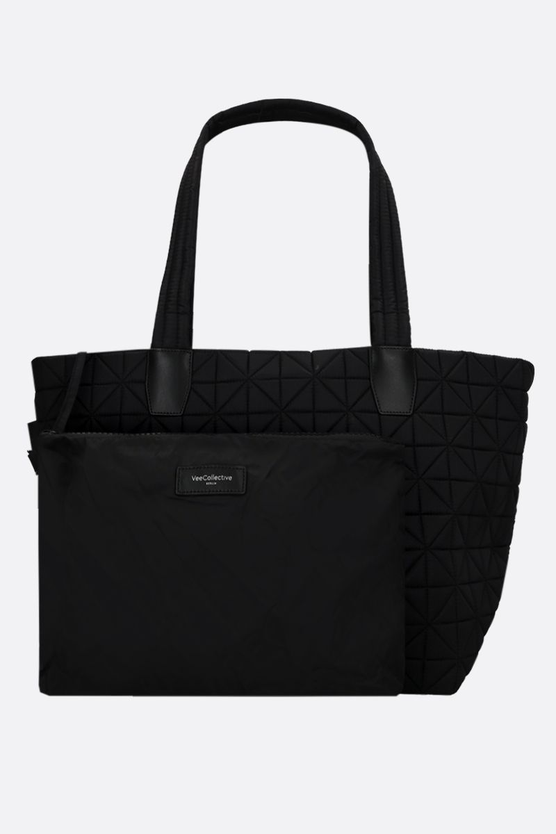VEE COLLECTIVE: Vee medium Ripstop nylon tote Color Black_1