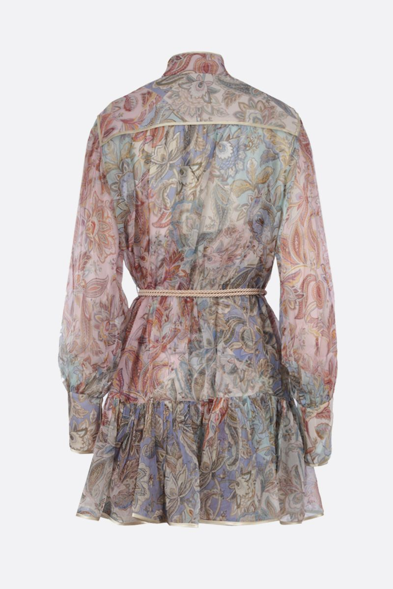 ZIMMERMANN: Lucky Bound silk minidress Color Multicolor_2
