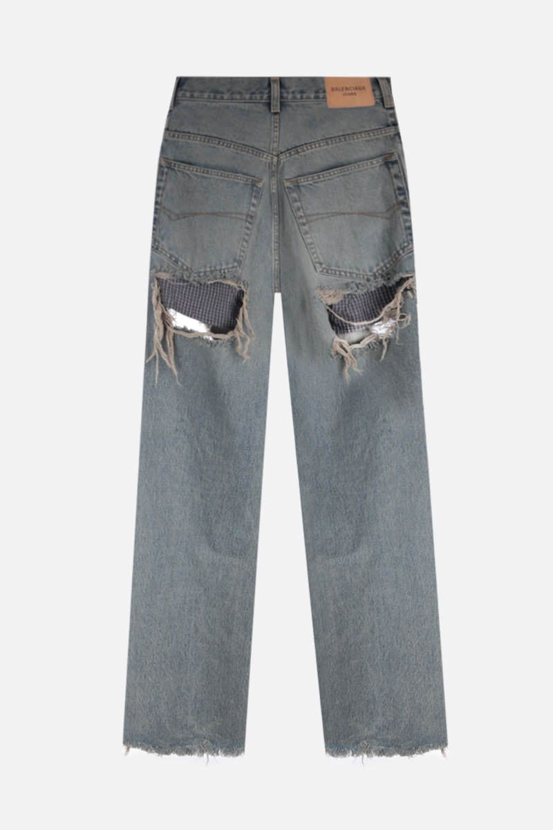 BALENCIAGA: Destroyed Large Baggy jeans Color Brown_2