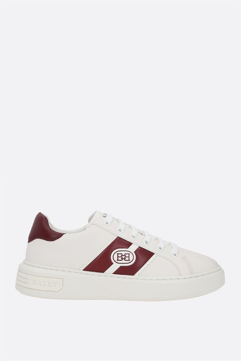 BALLY: Mikki smooth leather sneakers Color White_1