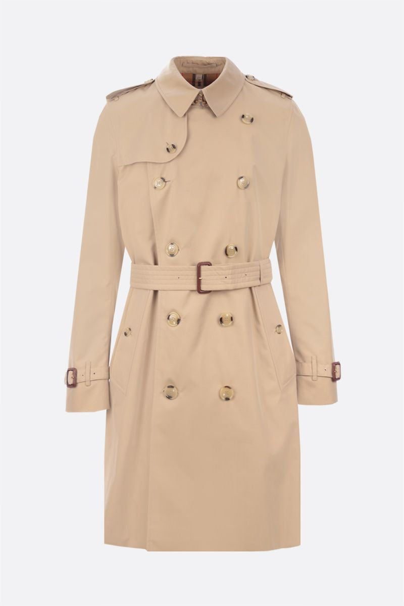 BURBERRY: trench The Long Kensington Heritage in gabardine Colore Giallo_1