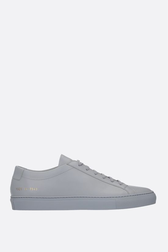 COMMON PROJECTS: Original Achilles smooth leather sneakers Color Grey_1
