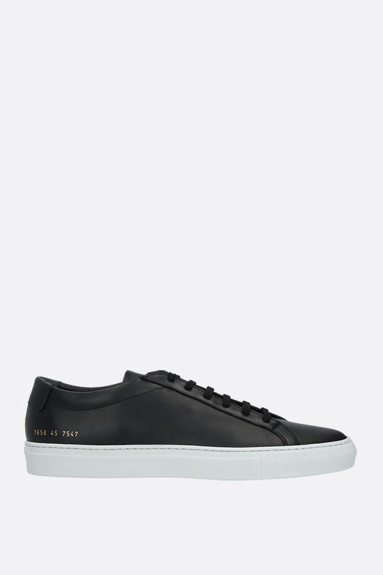 COMMON PROJECTS: Original Achilles smooth leather sneakers Color Black_1