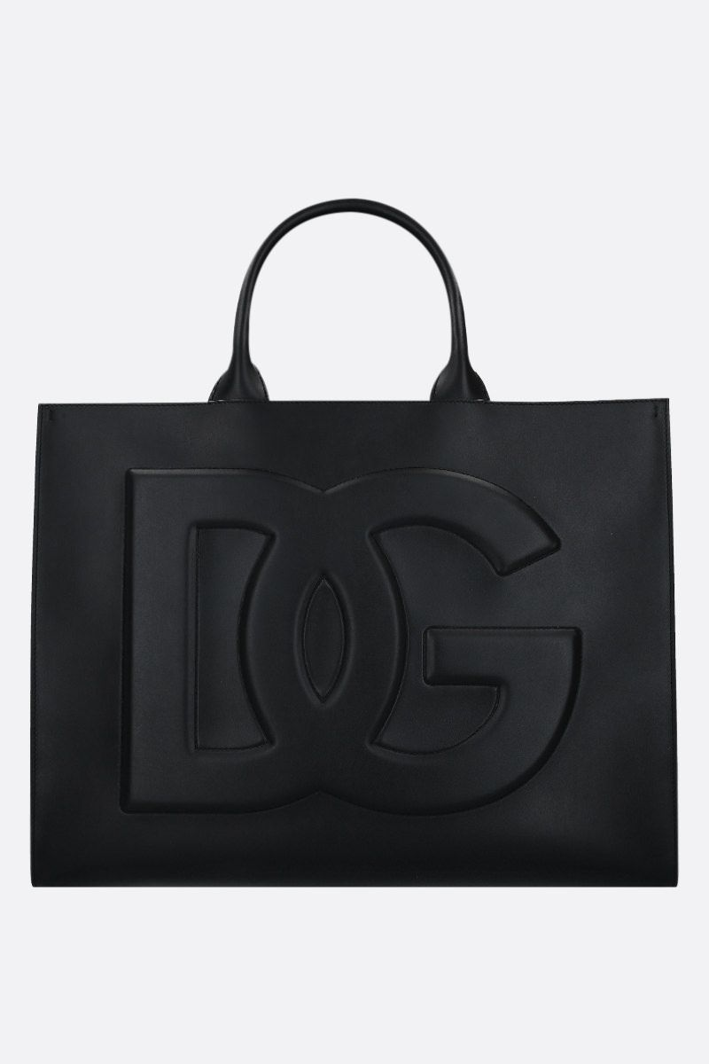 DOLCE & GABBANA: Beatrice medium smooth leather tote bag Color Black_1
