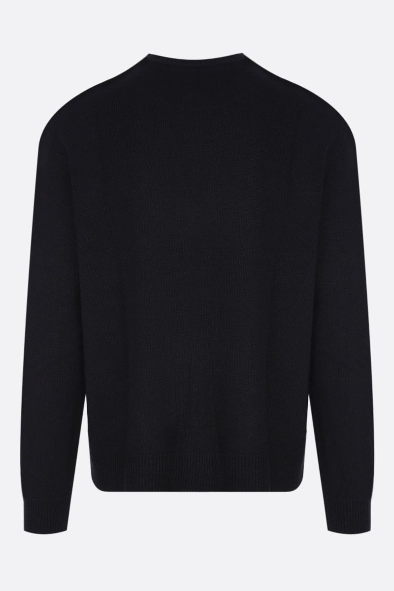 DSQUARED2: geometric logo print pullover in wool and polyester Color Black_2