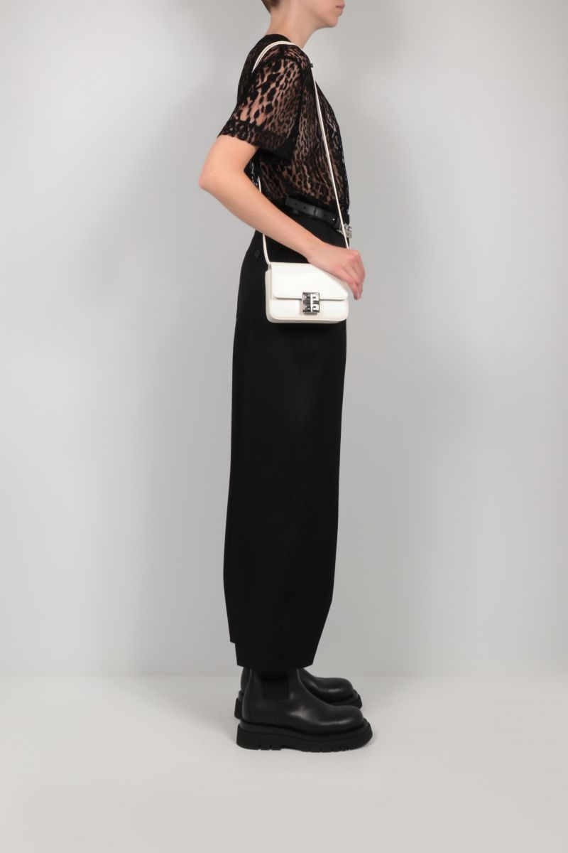 GIVENCHY: 4G small smooth leather shoulder bag Color White_2