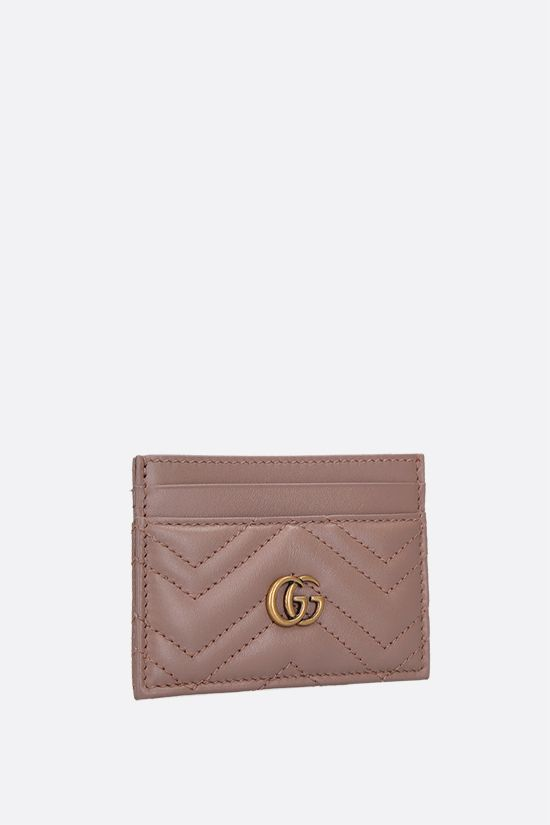 GUCCI: GG Marmont quilted leather card case Color White_2